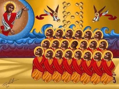 Icône des 21 martyrs coptes de Libye.